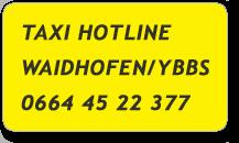 Taxi Hotline Waidhofen an der Ybbs 0664 45 22 377